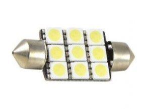 Žiarovka LED SV8,5-8 sufit 36mm 12V / 2,5W biela, 9xSMD5050