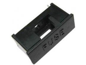 Poistkový držiak do DPS s krytom pre poistky 5x20mm