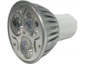 Žiarovka LED MR16-3x1W, biela, 12V / 3W