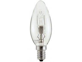Žiarovka E14 C35 sviečková halogénová, 230V / 28W