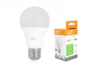 Žiarovka LED A60 E27 hrušková 230V / 10W, teplá biela, LTC