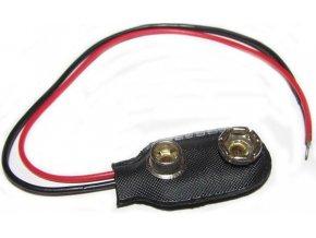 Kontakty na 9V batériu - klips, I typ, vývody 12cm