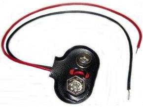 Kontakty na 9V batériu - klips, T typ, vývody 12cm