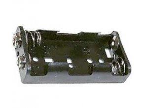Držiak batérie 2xR6 / AA / UM3 + klips