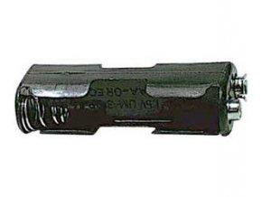 Držiak batérie 2xR6 / AA / UM3 so štipcom