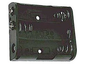 Držák baterie 3xR6/AA/UM3 s klipsem