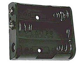 Držiak batérie 3xR6 / AA / UM3 so štipcom