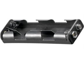 Držiak batérie 4xR6 / AA / UM3 so štipcom za sebou