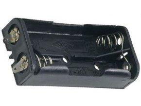 Držiak batérie 2xR03 / AAA s spájkovacími očkami