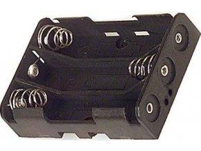 Držiak batérie 3xR03 / AAA s spájkovacími očkami