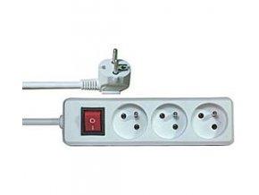 Predlžovací prívod 1,5m-3x10 + vypínač, 3x1mm2