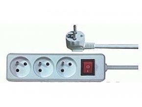 Predlžovací prívod 3m-3x10 + vypínač, 3x1mm2