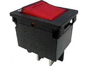 Vypínač kolískový OFF-ON 2pól.250V s ističom 15A