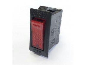 Vypínač kolískový OFF-ON 1pól.250V s ističom 10A