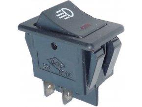 Vypínač kolískový ON-OFF ASW-17D 2pol.12V / 35A, presvetlenie 12V