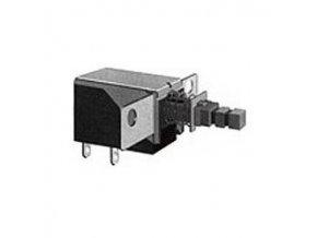 Prepínač stláčacie PS-11E01, ON-OFF 1pol.250V / 0,5A