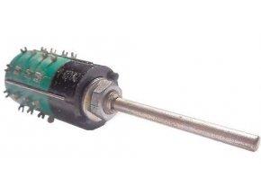 Prepínač otočný WK53317, 2-4polohy, 2pakety, hriadeľ 3x10mm