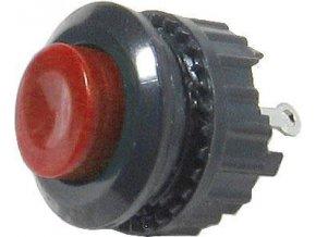 Tlačidlo DS-501, ON (OFF) 125V / 1A červené rozpínací