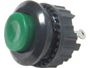 Tlačidlo DS-500, OFF- (ON) 125V / 1A zelené spínacie