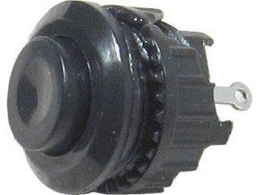 Tlačidlo DS-500, ON (OFF) 125V / 1A čierne spínacie