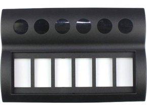 Rámeček pro 6 kolébkových vypínačů, PN-AP6-BT
