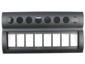 Rámček pre 8 kolískových vypínačov, PN-AP8-BT