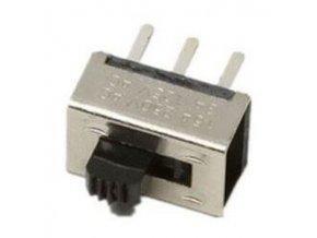 Prepínač posuvný KBB45-2P2W, ON-ON 2pol. 250V / 0,5A