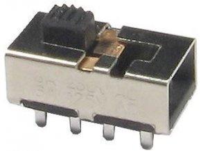 Prepínač posuvný KBB45-2P3W, ON-ON-ON 2pol. 250V / 0,5A