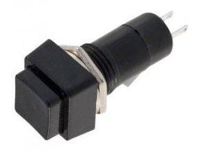 Vypínač stláčacie PBS-12A, OFF-ON 1pol.250V / 1A čierny