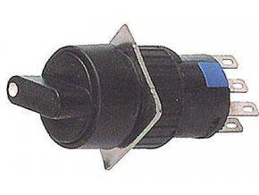 Prepínač otočný A16-22ZX2, ON-ON 2pólový, 250V / 3A