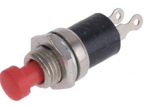 Tlačidlo PBS-10B, OFF- (ON) 1pol.250V / 0,5A červené