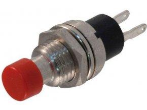 Tlačítko PBS-10C, ON-(OFF) 1pol.250V/0,5A červené