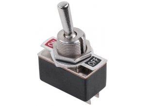 Vypínač páčkový KN3-1, ON-OFF 1pol.250V / 2A
