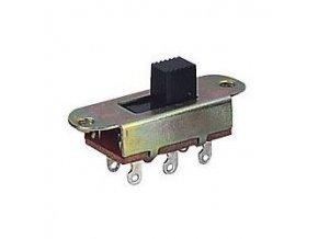 Prepínač posuvný KBB70-2P2W, ON-ON 2pólový 250V / 3A