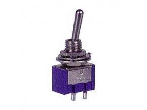 Vypínač páčkový MTS-101, ON-OFF 1pol.250V / 3A otvor 6mm