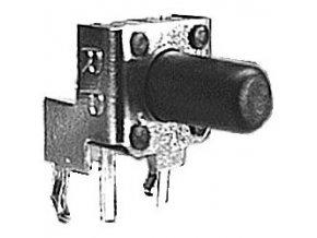 Mikrospínač 6x6mm uhlový v = 10,85mm