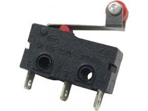Mikrospínač KW11-3Z, ON (ON) 1pol.250V / 5A s páčkou 13mm