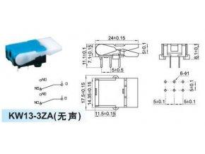 Mikrospínač telefónne KW13-3ZC