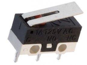Mikrospínač MSW-22, ON-ON 1pol.125V / 1A s páčkou