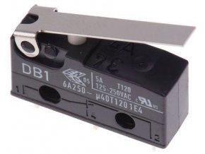 Mikrospínač ON-ON 1pol.250V / 6A s páčkou CHERRY DB1