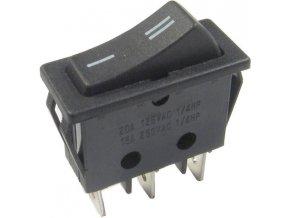 Prepínač kolískový RS-102-11C, ON-ON 1pol.250V / 16A