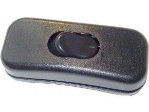 Vypínač mezišňůrový 250V / 2A čierny