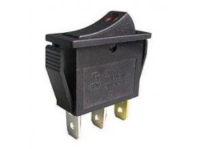 Vypínač kolískový IRS-101E-1C, OFF-ON 1pol.250V / 10A, presvetlený