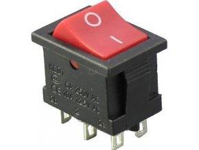 Prepínač kolískový MRS-202-3, ON-ON 2pol.250V / 3A I-II