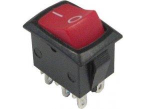 Prepínač kolískový MRS-202-3, ON-ON 2pol.250V / 3A 0-1