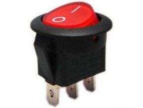 Prepínač kolískový RS102-8C, ON-ON 1pol.červený 250V / 6A