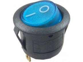 Vypínač kolískový MIRS101-8, ON-OFF 1p.250V / 6,5A modrý, presvetlený