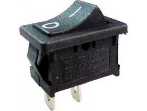 Vypínač kolískový MRS-101, OFF-ON 1pol.250V / 3A čierny
