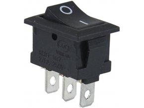 Prepínač kolískový MRS-102, ON-ON 1pol.250V / 3A čierny