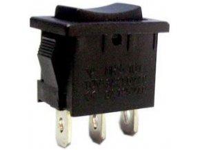 Tlačidlo kolískové MRS-123-2, (ON) -OFF- (ON) 1pol.250V / 6A